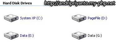 Mengganti Drive Letter pada Windows XP