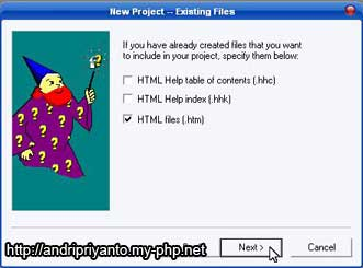 Membuat HTML Help E-Book (chm) Menggunakan HTML Help Workshop
