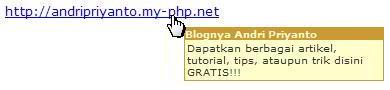 Menghias Tampilan Web dengan Overlib