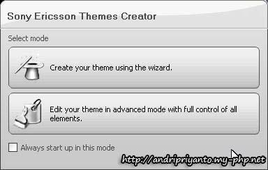 Membuat Theme untuk Hape Sony Ericsson