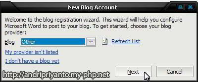 Posting Blog di WordPress Menggunakan Microsoft Word 2010