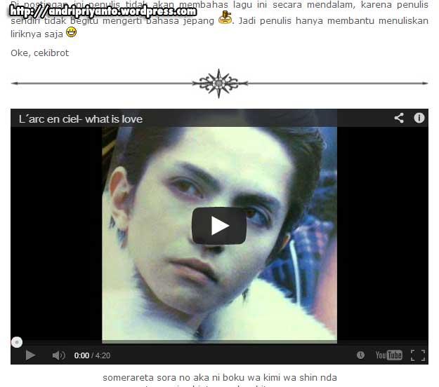 Memasukan Video Youtube ke dalam Postingan