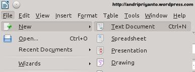 Membuat Dokumen Baru di LibreOffice Writter