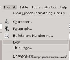 Page Setup LibreOffice