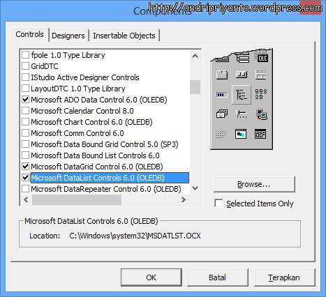 CRUD Menggunakan VB+Access