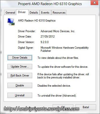 Mengatasi Pengaturan Brightness pada Windows 8