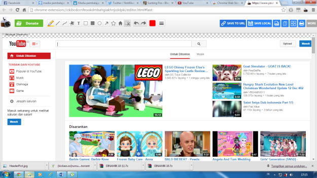 Hasil Capture Menggunakan Webpage Screenshoot